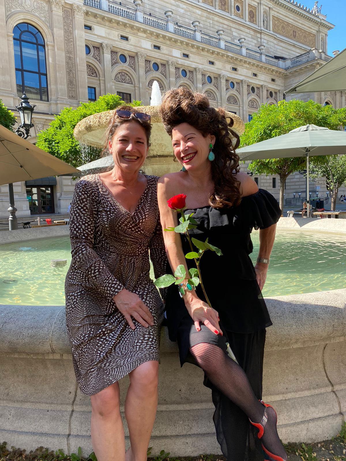 Interviewfoto von Nicole Roesler und Susanne Dessaive